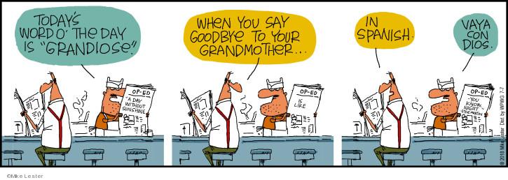 Cartoonist Mike Lester  Mike du Jour 2018-07-07 grandmother