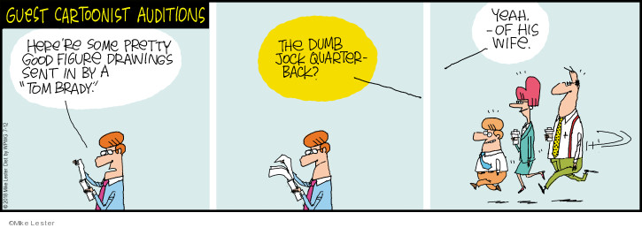 Comic Strip Mike Lester  Mike du Jour 2018-07-12 wife