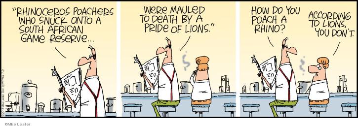 Comic Strip Mike Lester  Mike du Jour 2018-07-21 lion