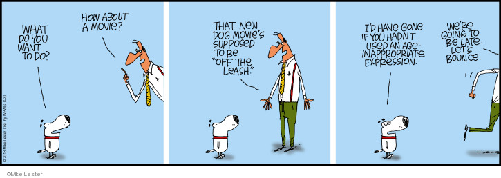 Comic Strip Mike Lester  Mike du Jour 2018-08-20 dog movie
