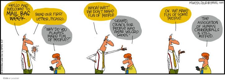Cartoonist Mike Lester  Mike du Jour 2018-08-27 human