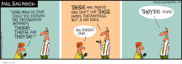 Cartoonist Mike Lester  Mike du Jour 2018-08-31 intelligence