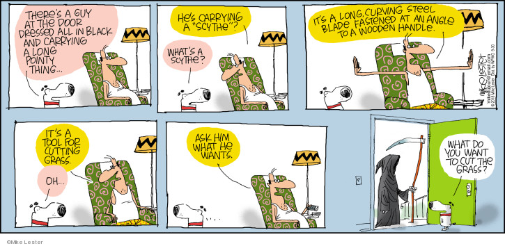 Comic Strip Mike Lester  Mike du Jour 2018-09-30 pointy