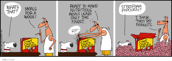 Comic Strip Mike Lester  Mike du Jour 2018-10-02 food delivery