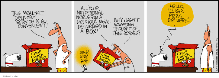 Comic Strip Mike Lester  Mike du Jour 2018-10-03 pizza