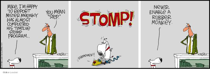 Comic Strip Mike Lester  Mike du Jour 2018-10-11 happy
