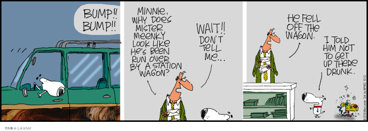 Comic Strip Mike Lester  Mike du Jour 2018-10-12 fall off