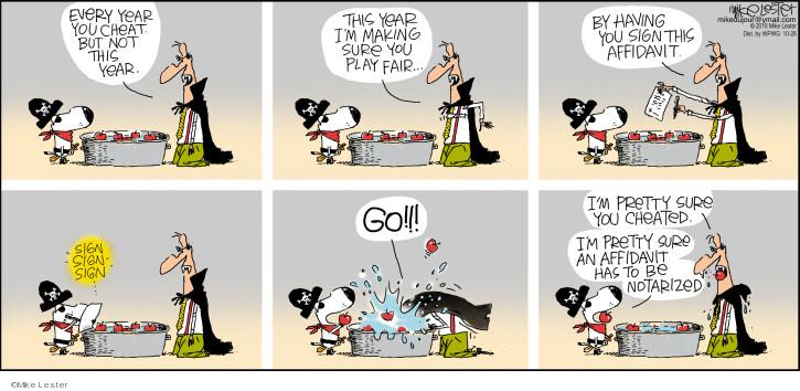 Cartoonist Mike Lester  Mike du Jour 2018-10-28 legal