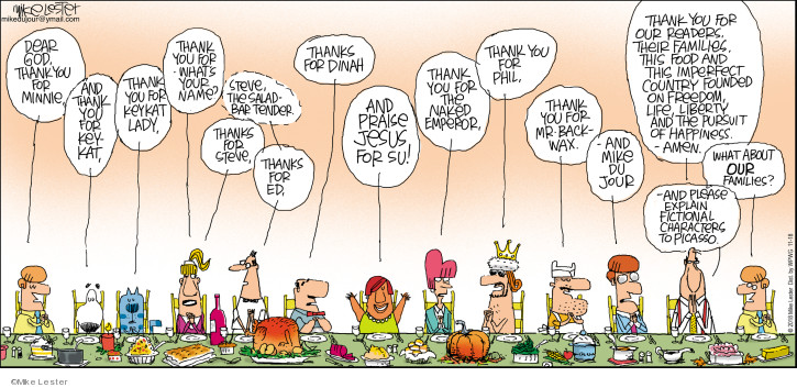 Comic Strip Mike Lester  Mike du Jour 2018-11-18 Thanksgiving family