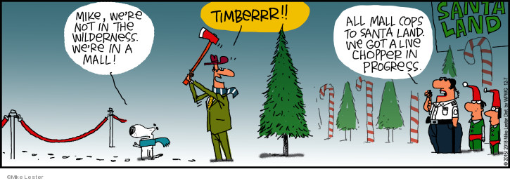Comic Strip Mike Lester  Mike du Jour 2018-12-07 fake tree