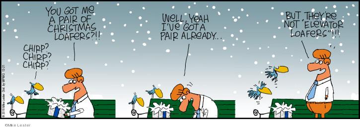 Cartoonist Mike Lester  Mike du Jour 2018-12-21 Christmas present