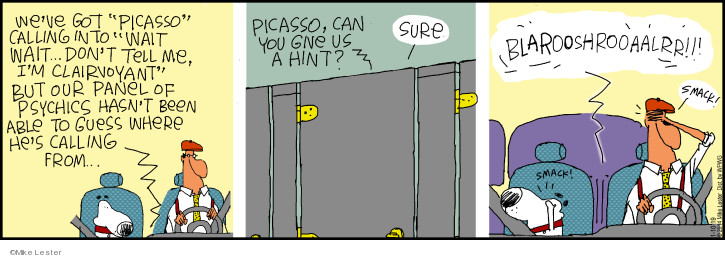 Comic Strip Mike Lester  Mike du Jour 2019-01-10 game show