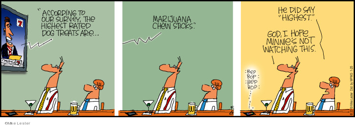 Comic Strip Mike Lester  Mike du Jour 2019-01-25 dog treat