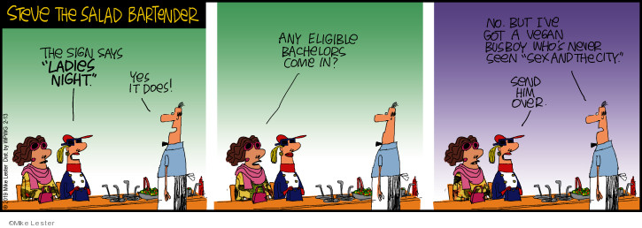 Comic Strip Mike Lester  Mike du Jour 2019-02-13 salad