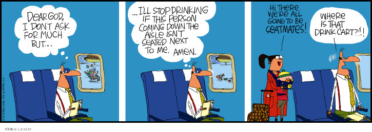 Comic Strip Mike Lester  Mike du Jour 2019-03-04 airplane travel