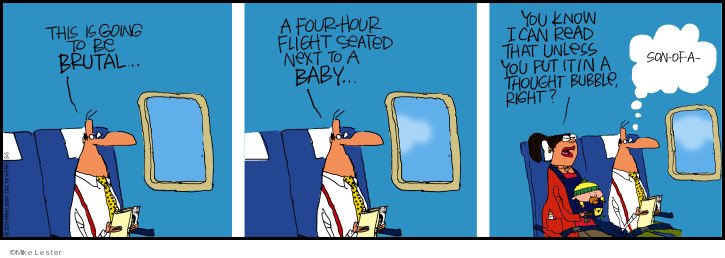 Comic Strip Mike Lester  Mike du Jour 2019-03-05 airplane travel