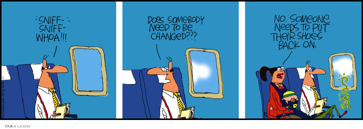Cartoonist Mike Lester  Mike du Jour 2019-03-07 air travel