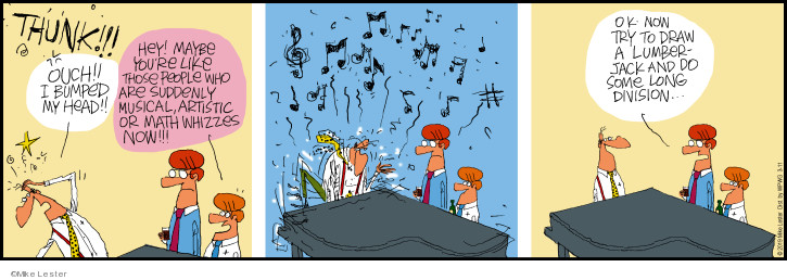 Comic Strip Mike Lester  Mike du Jour 2019-03-11 math