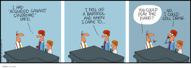 Comic Strip Mike Lester  Mike du Jour 2019-03-15 fall off