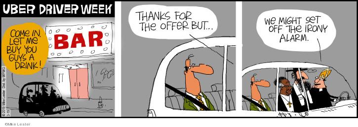 Cartoonist Mike Lester  Mike du Jour 2019-03-19 joke