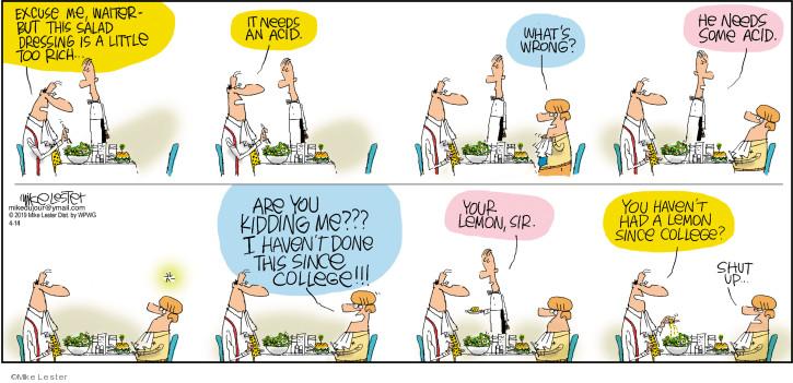 Comic Strip Mike Lester  Mike du Jour 2019-04-14 salad