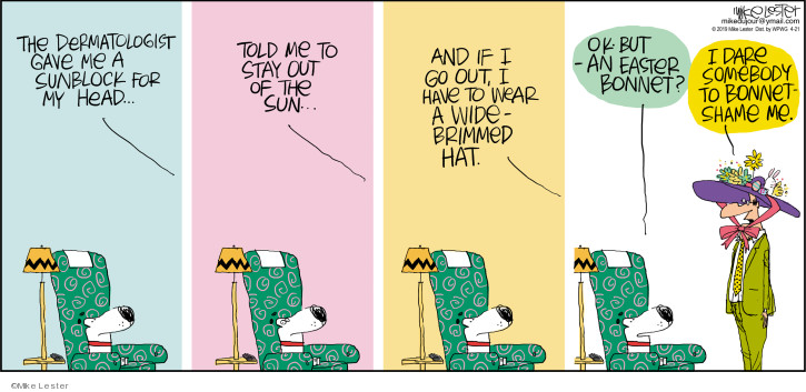 Comic Strip Mike Lester  Mike du Jour 2019-04-21 Easter
