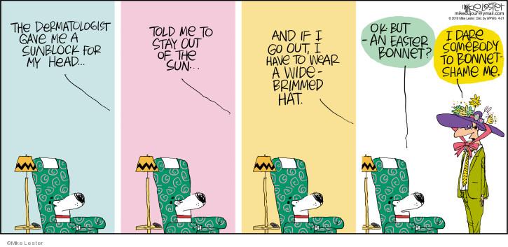 Cartoonist Mike Lester  Mike du Jour 2019-04-21 head
