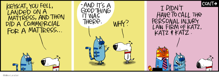 Comic Strip Mike Lester  Mike du Jour 2019-04-23 cat