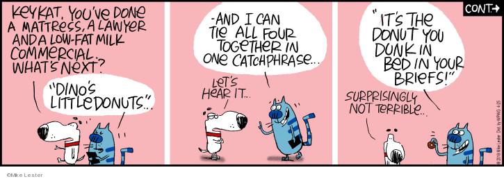 Cartoonist Mike Lester  Mike du Jour 2019-04-25 fat