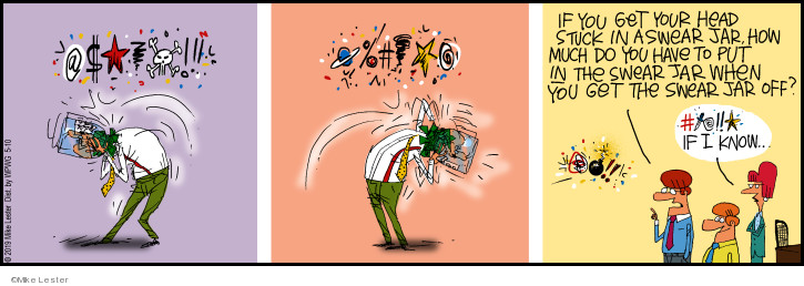 Cartoonist Mike Lester  Mike du Jour 2019-05-10 head