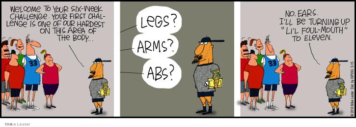 Comic Strip Mike Lester  Mike du Jour 2019-05-15 arms