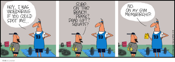 Cartoonist Mike Lester  Mike du Jour 2019-05-18 exercise