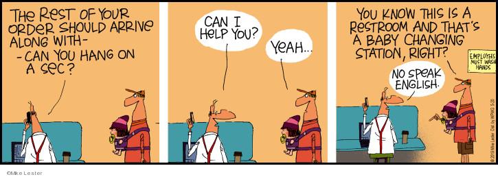 Comic Strip Mike Lester  Mike du Jour 2019-05-20 order