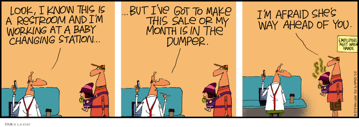 Cartoonist Mike Lester  Mike du Jour 2019-05-21 sale