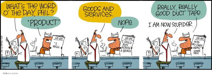 Cartoonist Mike Lester  Mike du Jour 2019-05-30 intelligence