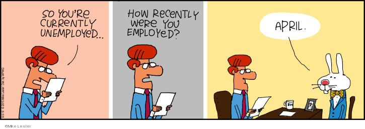 Cartoonist Mike Lester  Mike du Jour 2019-06-03 employment