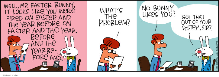 Comic Strip Mike Lester  Mike du Jour 2019-06-05 Easter