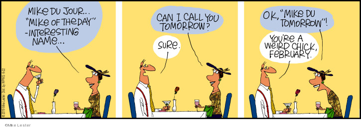 Comic Strip Mike Lester  Mike du Jour 2019-06-22 name-calling