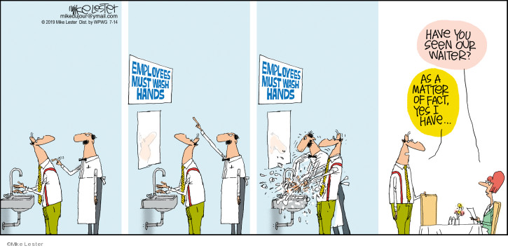 Cartoonist Mike Lester  Mike du Jour 2019-07-14 matter