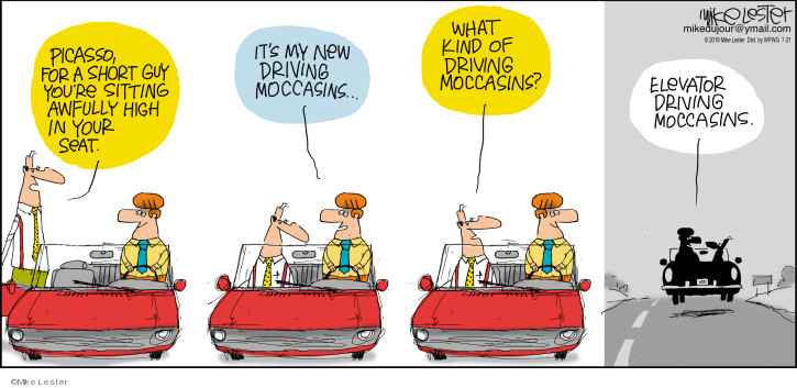 Cartoonist Mike Lester  Mike du Jour 2019-07-21 automobile
