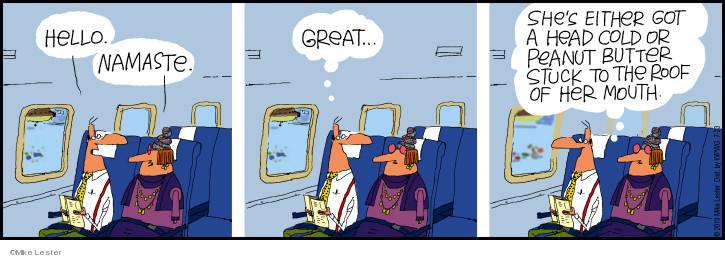 Comic Strip Mike Lester  Mike du Jour 2019-07-23 airplane passenger