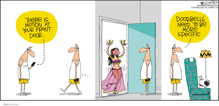 Comic Strip Mike Lester  Mike du Jour 2019-07-28 doorbell