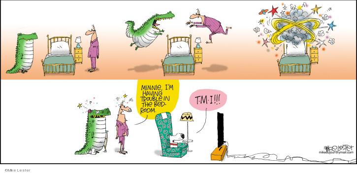 Cartoonist Mike Lester  Mike du Jour 2019-08-11 Minnie