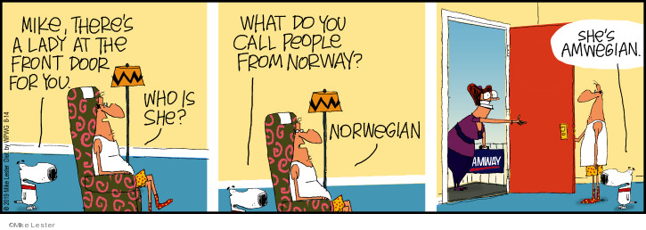 Comic Strip Mike Lester  Mike du Jour 2019-08-14 Norway