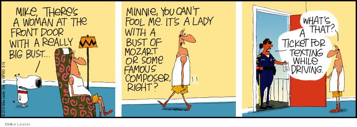 Cartoonist Mike Lester  Mike du Jour 2019-08-16 Mike