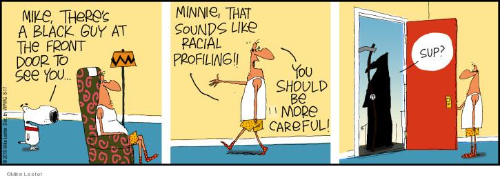 Cartoonist Mike Lester  Mike du Jour 2019-08-17 Minnie