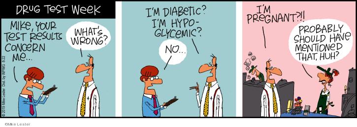Comic Strip Mike Lester  Mike du Jour 2019-08-22 diabetic