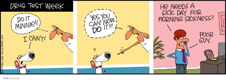 Cartoonist Mike Lester  Mike du Jour 2019-08-24 Minnie