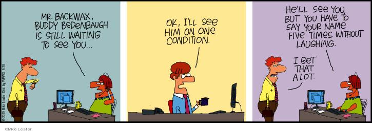 Cartoonist Mike Lester  Mike du Jour 2019-08-28 laugh