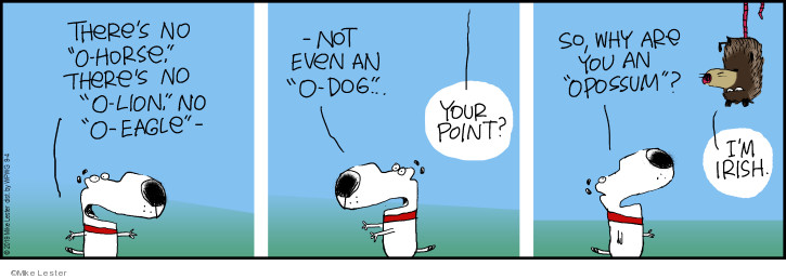 Cartoonist Mike Lester  Mike du Jour 2019-09-04 dog
